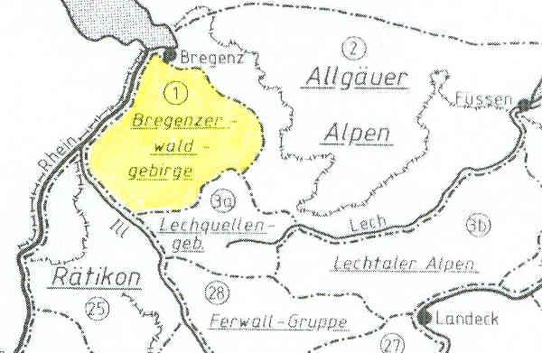 Vorarlberg Karte Berge.Berge Und Gipfel Der Alpen
